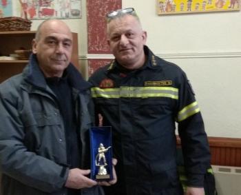 Βράβευση του Αν. Μπακαλιού για την προσφορά οχημάτων στην Πυροσβεστική Υπηρεσία Νάουσας