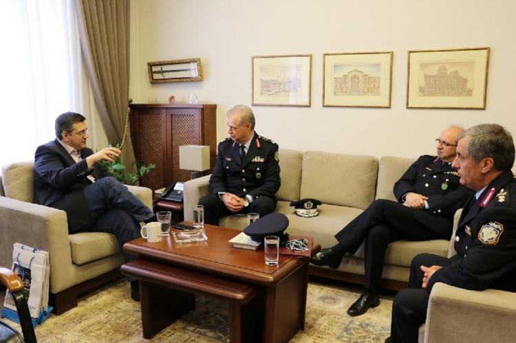 Συνάντηση του Περιφερειάρχη Κ. Μακεδονίας Απ. Τζιτζικώστα με την ηγεσία της Ελληνικής Αστυνομίας στη Βόρεια Ελλάδα