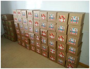 Διανομή χυμών από την Π.Ε. Ημαθίας στους ωφελούμενους του προγράμματος (ΚΕΑ-ΤΕΒΑ) σε Βέροια και Νάουσα