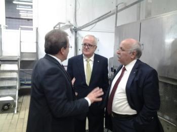 Τη συνεταιριστική βιομηχανία της Βέροιας VENUS GROWERS επισκέφτηκε ο Πρόεδρος της Τράπεζας Πειραιώς