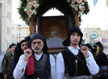 Το Περιστέρι υποδέχθηκε την Ιερά εικόνα του Αγίου Γεωργίου Περιστερεώτα