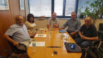 Συνάντηση Φ. Καρασαρλίδου, Χ. Αντωνίου και Γ. Σηφάκη με τον Πρόεδρο και τον Αντιπρόεδρο του ΕΛΓΑ