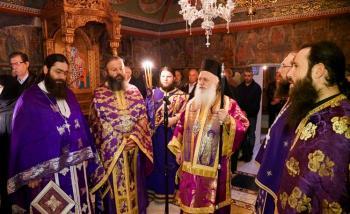 Η εορτή του Οσίου Χριστοδούλου του εν Πάτμω στην Ιερά Μονή Αγίων Πάντων Βεργίνας