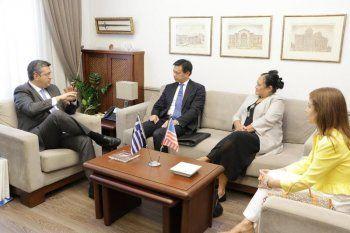 Συνάντηση του Περιφερειάρχη Κεντρικής Μακεδονίας Απ. Τζιτζικώστα με τον Hoyt Brian Yee