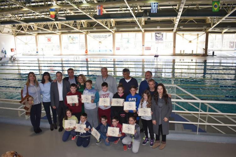 Ολοκληρώθηκαν με επιτυχία τα μαθήματα κολύμβησης για το β' τρίμηνο