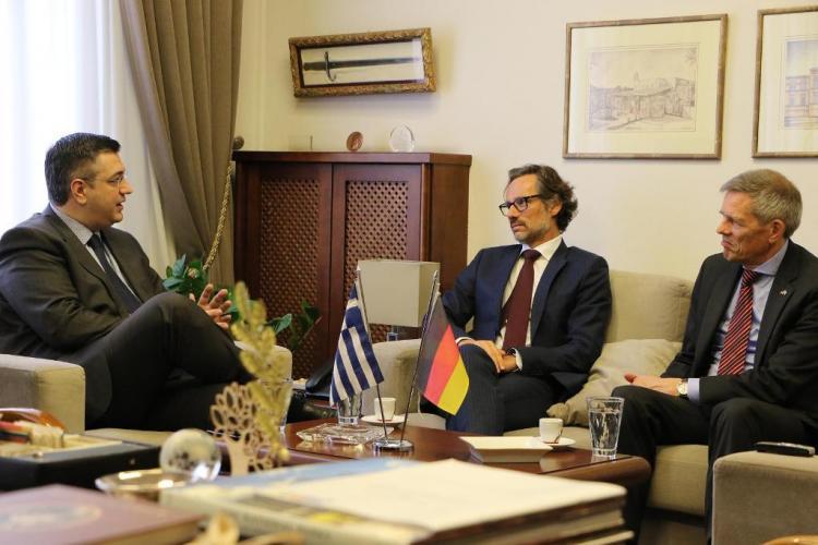 Συνάντηση του Απόστολου Τζιτζικώστα με τον πρέσβη της ομοσπονδιακής δημοκρατίας της Γερμανίας Jens Plötner