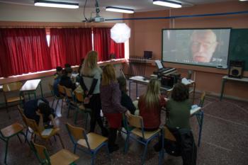 Οι ηθοποιοί Α.Αντωνίου και Π.Δαδακαρίδης μίλησαν σε μαθητές και μαθήτριες του Ενιαίου Ειδικού Επαγ/κού Γυμνασίου-Λυκείου Βέροιας