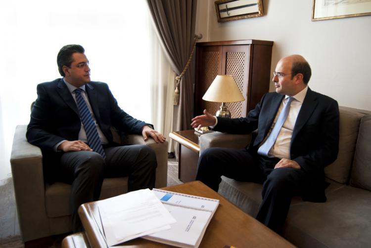 Συνάντηση του περιφερειάρχη κεντρικής Μακεδονίας Απόστολου Τζιτζικώστα με τον αντιπρόεδρο της ΝΔ Κωστή Χατζηδάκη