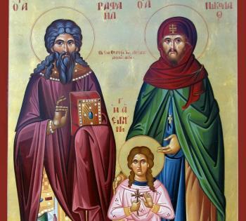 Νησιώτες Nεομάρτυρες Άγιοι της Ορθοδοξίας μας, Άγιοι Ραφαήλ, Νικόλαος, Ειρήνη εκ Ιθάκης