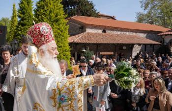 Πανηγύρισε στη Βέροια η Ιερά Μονή Παναγίας Δοβρά επί τη εορτή της Ζωοδόχου Πηγής