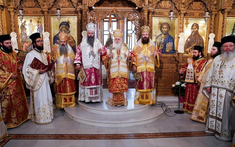 Πολυαρχιερατική Θεία Λειτουργία των Αγίων Ναουσαίων Νεομαρτύρων και η 196η επέτειος του Ολοκαυτώματος