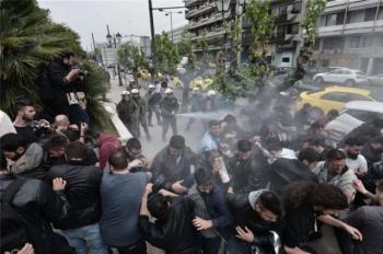 Ε.Κ. Νάουσας : Καταδικάζουμε την εγκληματική επίθεση των ΜΑΤ σε συλλαλητήριο μαθητικών και φοιτητικών συλλόγων