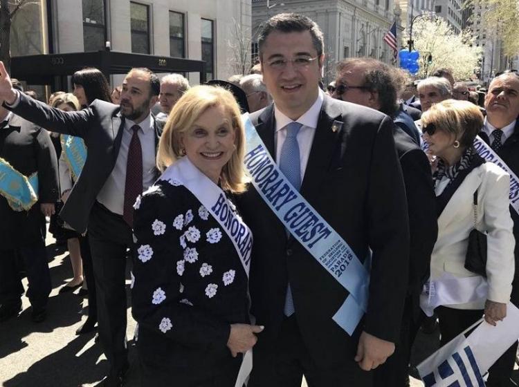 Ο περιφερειάρχης Κ.Μακεδονίας Απ. Τζιτζικώστας στις εκδηλώσεις για την εθνική επέτειο της ελληνικής επανάστασης στη Ν.Υόρκη