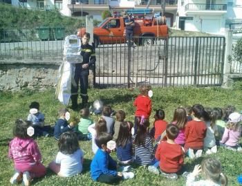 Επίσκεψη της Πυροσβεστικής Υπηρεσίας Νάουσας στο βρεφονηπιακό σταθμό πρώην ΚΕΠΑΠ