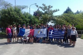 Επίσκεψη Γαλλικού σχολείου στο 5ο ΓΕΛ Βεροίας στο πλαίσιο τριετούς eTwinning συνεργασίας
