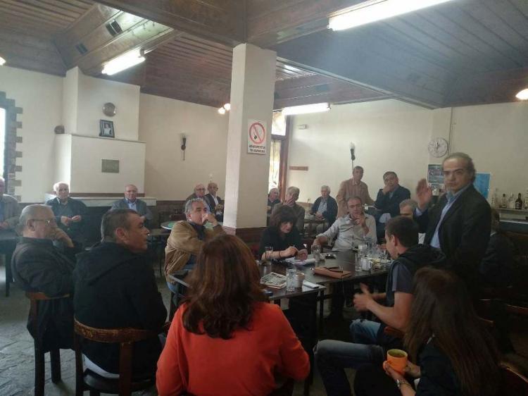 Επίσκεψη κλιμακίου του ΣΥΡΙΖΑ στα Ριζώματα Ημαθίας, διάλογος για την πολιτική κατάσταση και για τα προβλήματα της περιοχής