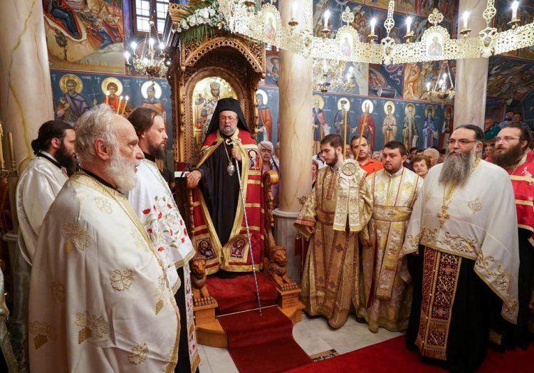 Ο εσπερινός της εορτής του Αγ.Παντελεήμονος και κουρά μοναχού στην Ι.Μ. Παναγίας Δοβρά Βεροίας