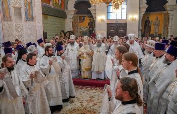 Επίσκεψη Παντελεήμονα στην Ιερά Μητρόπολη Εκατερίνμπουργκ