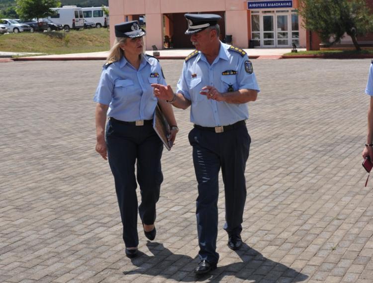 Τις εγκαταστάσεις της Σχολής στο Πανόραμα Βέροιας επισκέφτηκε η Διοικητής της Αστυνομικής Ακαδημίας