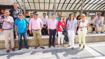 Συγκέντρωση χθες στην πλατεία Δημαρχείου Βέροιας και ομιλία του αντιπροέδρου του Ν.Τ. ΑΔΕΔΥ Ημαθίας Π. Τουτουντζίδη