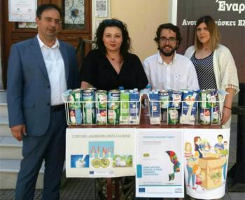 Γάλατα μακράς διαρκείας συνέλεξε το Κοινωνικό παντοπωλείο του Δήμου Βέροιας