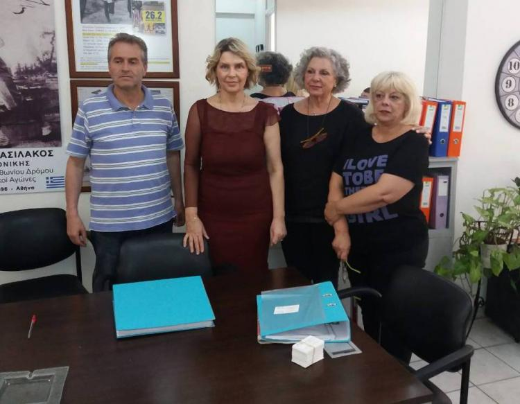 Συνάντηση Κατερίνας Παπακώστα με Δ.Σ. του Ενιαίου Δικτύου Συνταξιούχων
