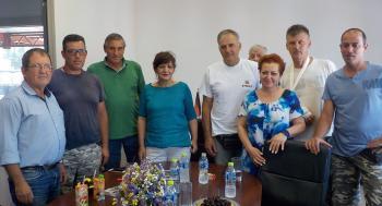 Επίσκεψη της Φρόσως Καρασαρλίδου στον Αγροτικό Συνεταιρισμό ΝΑΟΥΣΑΣ