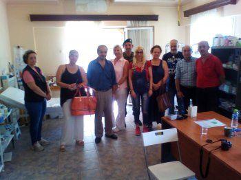 Επίσκεψη αντιπροσωπείας στελεχών του ΣΥΡΙΖΑ Ημαθίας στο στρατόπεδο φιλοξενίας προσφύγων στις Βαρβάρες