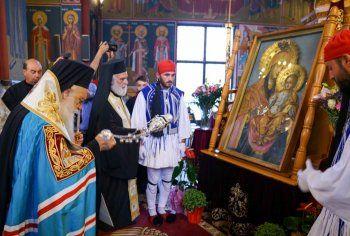 Η υποδοχή της ιεράς Εικόνος Παναγίας Αγιοταφιτίσσης στην Αλεξάνδρεια Ημαθίας