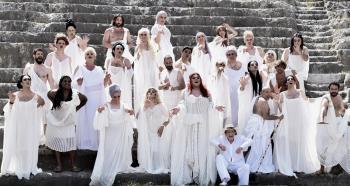 Εκκλησιάζουσες του Αριστοφάνη, Δευτέρα 16 Ιουλίου στη Βέροια και Τρίτη 17 Ιουλίου στην Αλεξάνδρεια