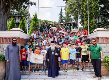 Ολοκληρώθηκε η πρώτη περίοδος φιλοξενίας παιδιών στις εγκαταστάσεις της Ιεράς Μονής Παναγίας Δοβρά
